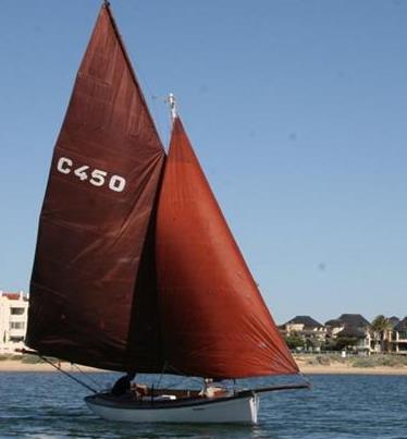 Kalinga C450 with sails