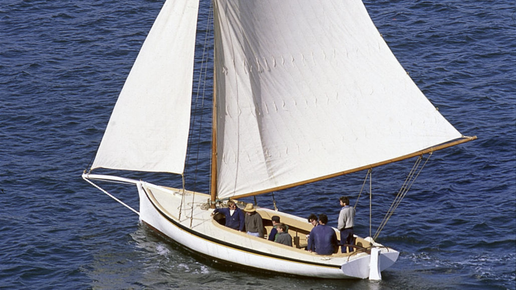 THISTLE sailing on Sydney Harbour, 1992 *** Local Caption *** ANMM vessel